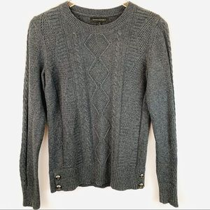 🌸Banana Republic Gray Cable Knit Sweater